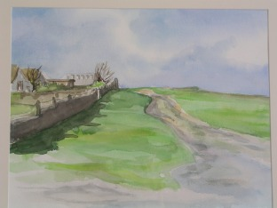 """les sablons"" Early watercolour painted ""en plein-air"" when I was 17, in Normandy, France"