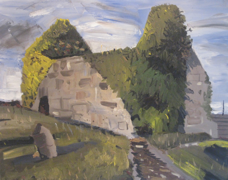 Norman ruin, oil on canvas